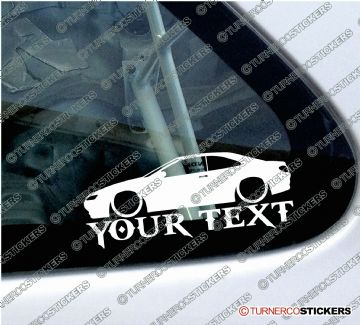 2x Custom YOUR TEXT Lowered car stickers - Peugeot 406 Coupe Pininfarina